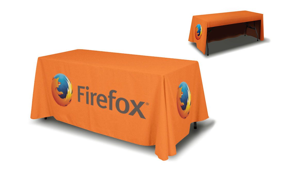 6ft Table Cover 3 sided (open back)