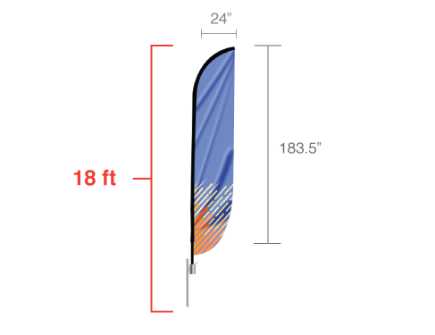 Convex Flag X-Large