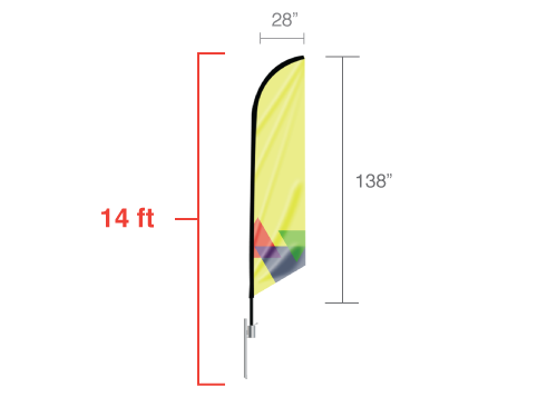 Angled Flag Large