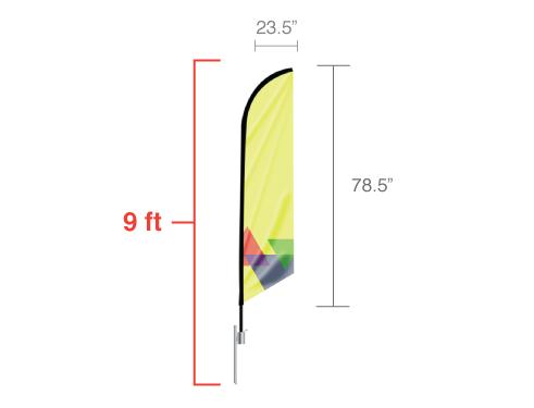Angled Flag Small