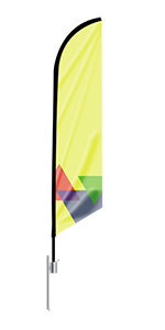 Feather Angled Flag (Small)
