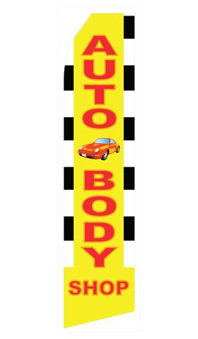 Auto Body Shop Econo Stock Flag