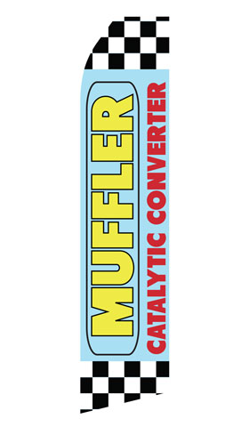 Muffler Catalytic Converter Econo Stock Flag