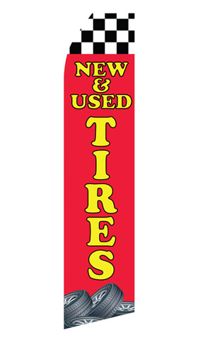 New and Used Tires Econo Stock Flag