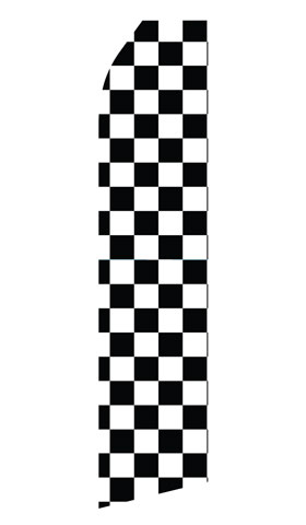 Black and White Checkered Econo Stock Flag