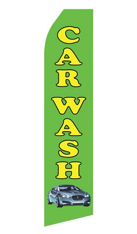 Green Car Wash Econo Stock Flag