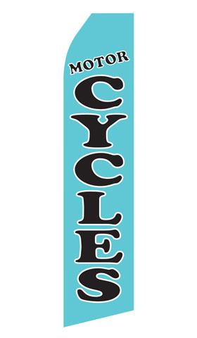 Blue Motorcycle Econo Stock Flag