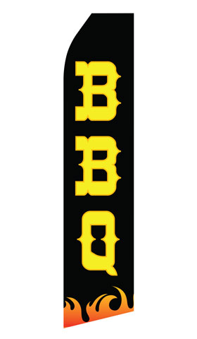 Black BBQ Econo Stock Flag