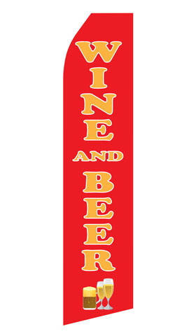 Wine and Beer Econo Stock Flag