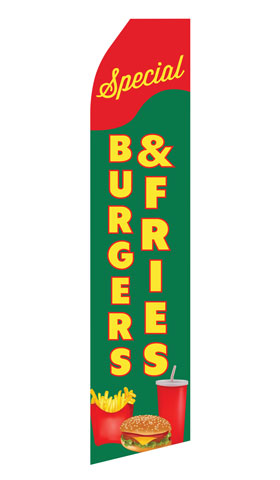 Burger and Fries Special Econo Stock Flag