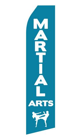 Martial Arts Econo Stock Flag
