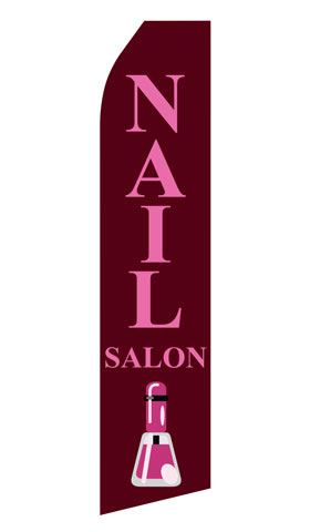 Nail Salon Econo Stock Flag