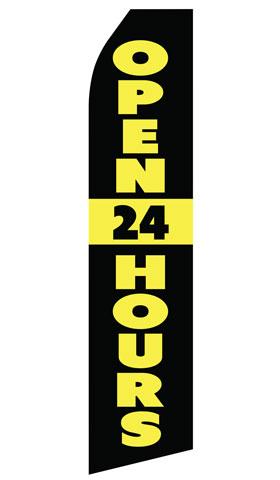 Open 24 Hours Econo Stock Flag