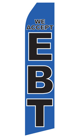 We Accept EBT Econo Stock Flag
