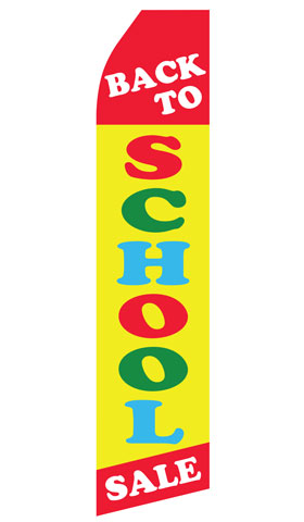 Back to School Sale Econo Stock Flag