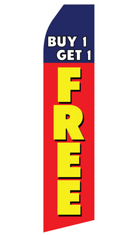 Buy One Get One Free Econo Stock Flag