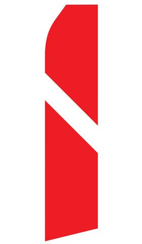 Red and White Stripe Econo Stock Flag