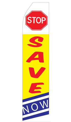 Stop Save Now Econo Stock Flag