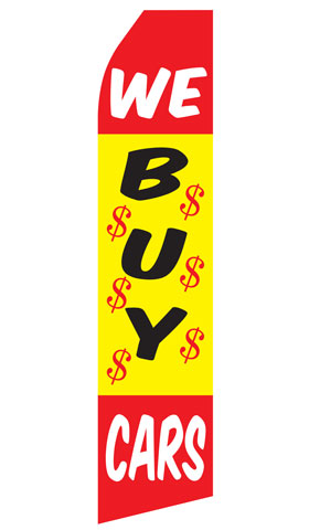 We Buy Cars Econo Stock Flag