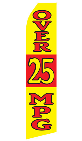 Over 25 MPG Econo Stock Flag