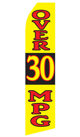 Over 30 MPG Econo Stock Flag
