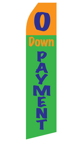 No Down Payment Econo Stock Flag