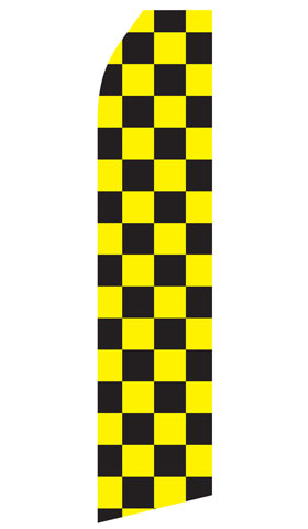 Black and Yellow Checkered Econo Stock Flag