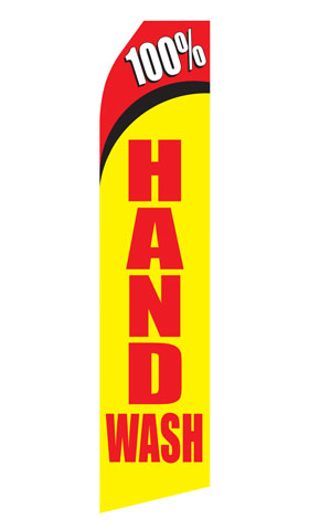 100% Hand Wash Econo Stock Flag
