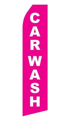 Pink Car Wash Econo Stock Flag