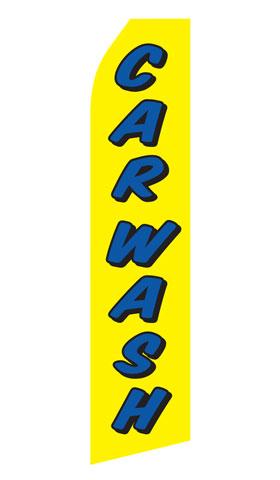 Yellow Car Wash Econo Stock Flag