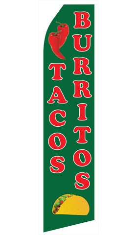 Tacos and Burritos Econo Stock Flag