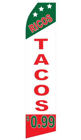Ricos Tacos Econo Stock Flag