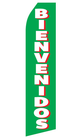 Bienvenidos Econo Stock Flag
