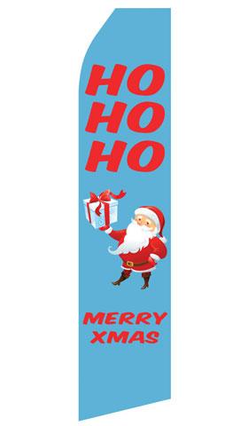 HOHOHO Merry Xmas Econo Stock Flag