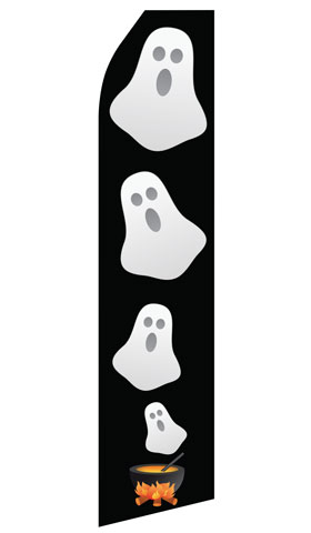 Halloween Ghost Econo Stock Flag