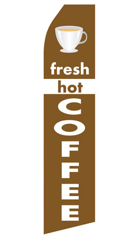 Fresh Hot Coffee Econo Stock Flag