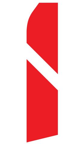 Red and White Stripe Econo Stock Flag