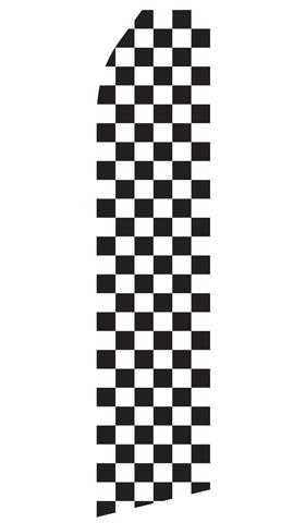 Black and White Checkered Econo Stock Flag