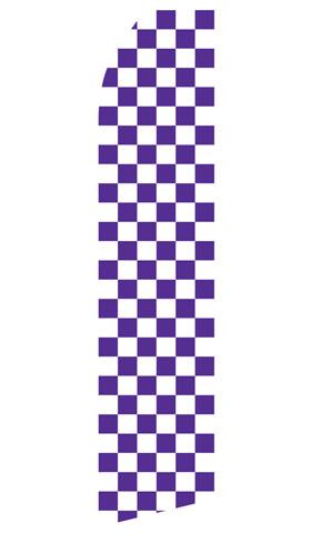 Purple and White Checkered Econo Stock Flag