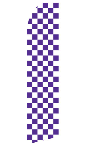 Purple and White Checkered Econo Stock Flag