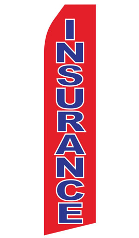 Red Insurance Econo Stock Flag