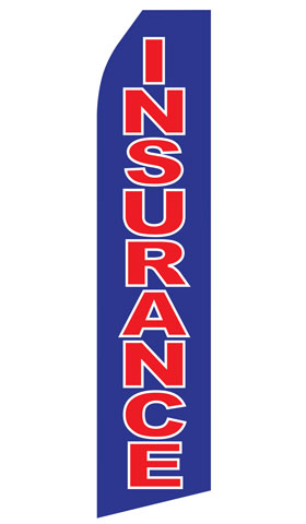 Blue Insurance Econo Stock Flag