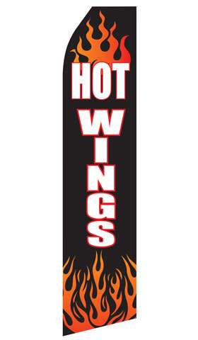 Hot Wings Econo Stock Flag