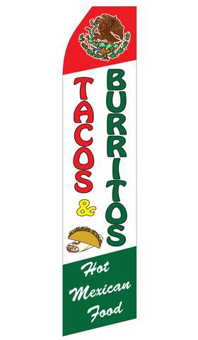 Tacos and Burritos Econo Stock Flag