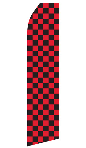 Red and Black Checkered Econo Stock Flag
