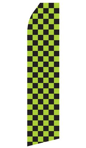 Green and Black Checkered Econo Stock Flag