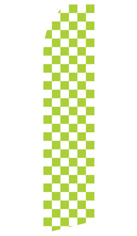 Green and White Checkered Econo Stock Flag