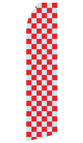 Grey and Red Checkered Econo Stock Flag