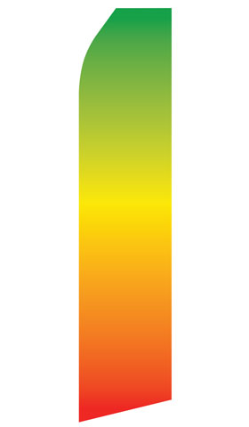 Green Orange Gradient Econo Stock Flag