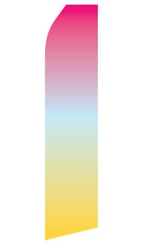 Purple Yellow Gradient Econo Stock Flag